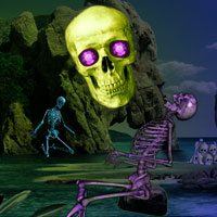 Free online flash games - Skull Island Escape game - Games2Dress