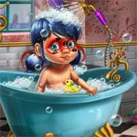Free online flash games - Ladybug Baby Shower Care game - Games2Dress