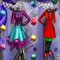 Free online flash games -  Xmas Shopping Window game - Games2Dress
