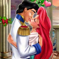 Free online flash games - Mermaid Princess Mistletoe Kiss Girlsplay game - Games2Dress
