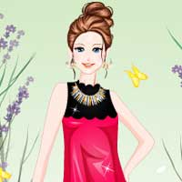 Free online flash games - Drop Waist Dress game - Games2Dress
