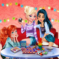 Princesses Board Games Night EnjoyDressup
