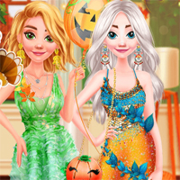 Free online flash games - Princesses Happy Thanksgivings Day game - Games2Dress