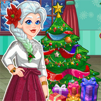 Free online flash games - Crystals Xmas Home Deco game - Games2Dress