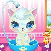 Free online flash games - Sweet Kitty Salon Girlgamesclub game - Games2Dress