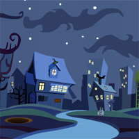 Free online flash games - ZoozooGames Ghost Town Escape game - Games2Dress