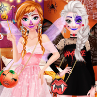 Free online flash games - Sisters Halloween Party EnjoyDressup game - Games2Dress