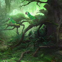 Free online flash games - Avm Wizard Forest Escape game - Games2Dress