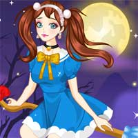 Free online flash games - Enchanted Broom Girl game - Games2Dress
