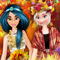 Free online flash games - Autumn Ball At Princess College game - Games2Dress