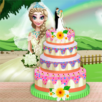 Free online flash games - Elsa Wedding Cake Cooking game - Games2Dress