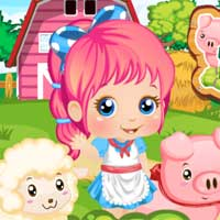 Free online flash games -  Baby Alice Farm Life PlayPink game - Games2Dress