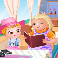 Free online flash games - Baby Hazel Granny House game - Games2Dress