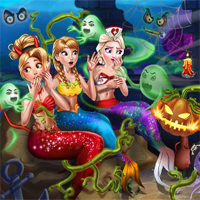 Free online flash games - Mermaid Haunted House game - Games2Dress