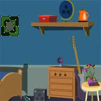 Free online flash games - EscapeGamesToday Elegant Blue House Escape game - Games2Dress