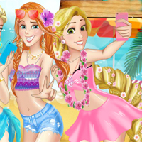 Free online flash games - Princess Beach Party game - Games2Dress