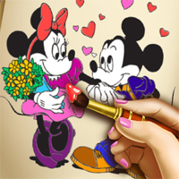 Free online flash games - Minnie Coloring Book Agnesgames game - Games2Dress