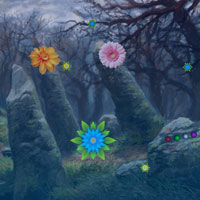 Free online flash games - Bigescape Flower Fantasy Forest game - Games2Dress