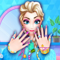 Free online flash games - Ice Princess Nails Salon game - Games2Dress