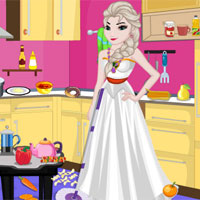 Princess Elsa Kitchen Cleaning
