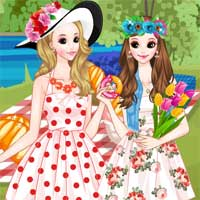 Free online flash games - Picnic with Friend game - Games2Dress