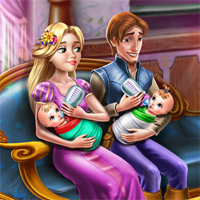 Free online flash games - Rapunzel Twins Family Day game - Games2Dress