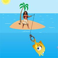 Free online flash games - Moana Fishing game - Games2Dress