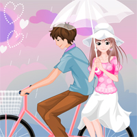 Free online flash games - Love in Rain DidiGames game - Games2Dress