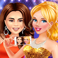 Free online flash games - Stars And Royals BFF Party Night game - Games2Dress