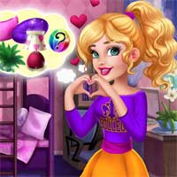 Free online flash games - Audreys Trendy College Room Girlg game - Games2Dress