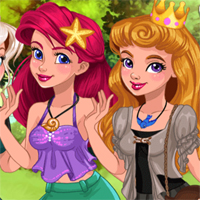 Free online flash games -  Princess Casual Cosplay Challenge game - Games2Dress
