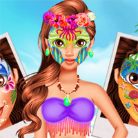 Free online flash games - Oceania Princess Moana Face Art 7sGames game - Games2Dress