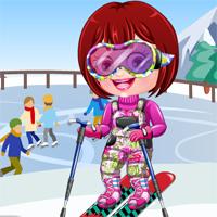 Free online flash games - Baby Hazel Skier Dressup game - Games2Dress