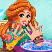 Free online flash games - Girlg Jessies DIY Nails Spa game - Games2Dress