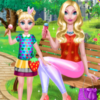 Free online flash games - Mommy And Daughter Summer Day DariaGames game - Games2Dress