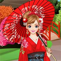 Free online flash games - Japanese Princess game - Games2Dress
