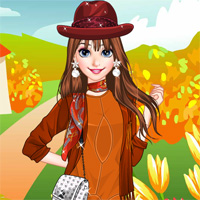 Free online flash games - Colors Of Fall LoliGames game - Games2Dress