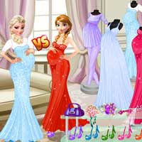 Free online flash games - Pregnant Princesses Fashion Dressing Room ZeeGames game - Games2Dress
