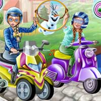 Free online flash games - Princess Scooter Ride game - Games2Dress