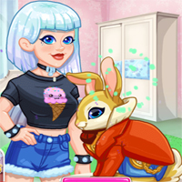 Free online flash games - Crystal Adopts A Bunny game - Games2Dress