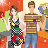 Free online flash games - Cooks in Love game - Games2Dress