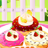 Free online flash games - Fluffy Cake Doughnuts Gamesmiracle game - Games2Dress