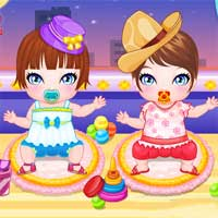 Free online flash games - My Newborn Twins game - Games2Dress