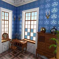 Free online flash games - 365Escape Old Blue Room Escape game - Games2Dress
