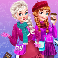 Free online flash games - Sisters Winter Escape game - Games2Dress