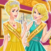 Free online flash games - Queens of Autumn Ball FreeGamesCasual game - Games2Dress