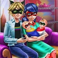 Free online flash games - Ladybug Twins Family Day game - Games2Dress
