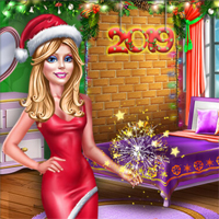 Free online flash games - Ellie New Year Room Deco game - Games2Dress