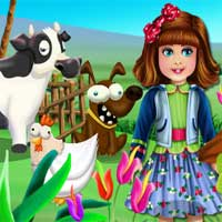 Free online flash games - Kids Learning Animals GirlGamesBox game - Games2Dress
