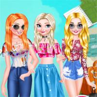 Free online flash games - Princesses Travel Experts game - Games2Dress